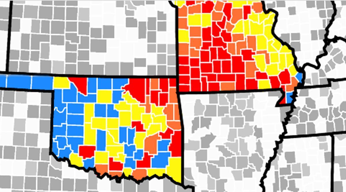 Missouri-to-Oklahoma infections