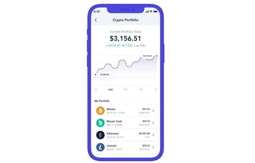 Vast Bank crypto app