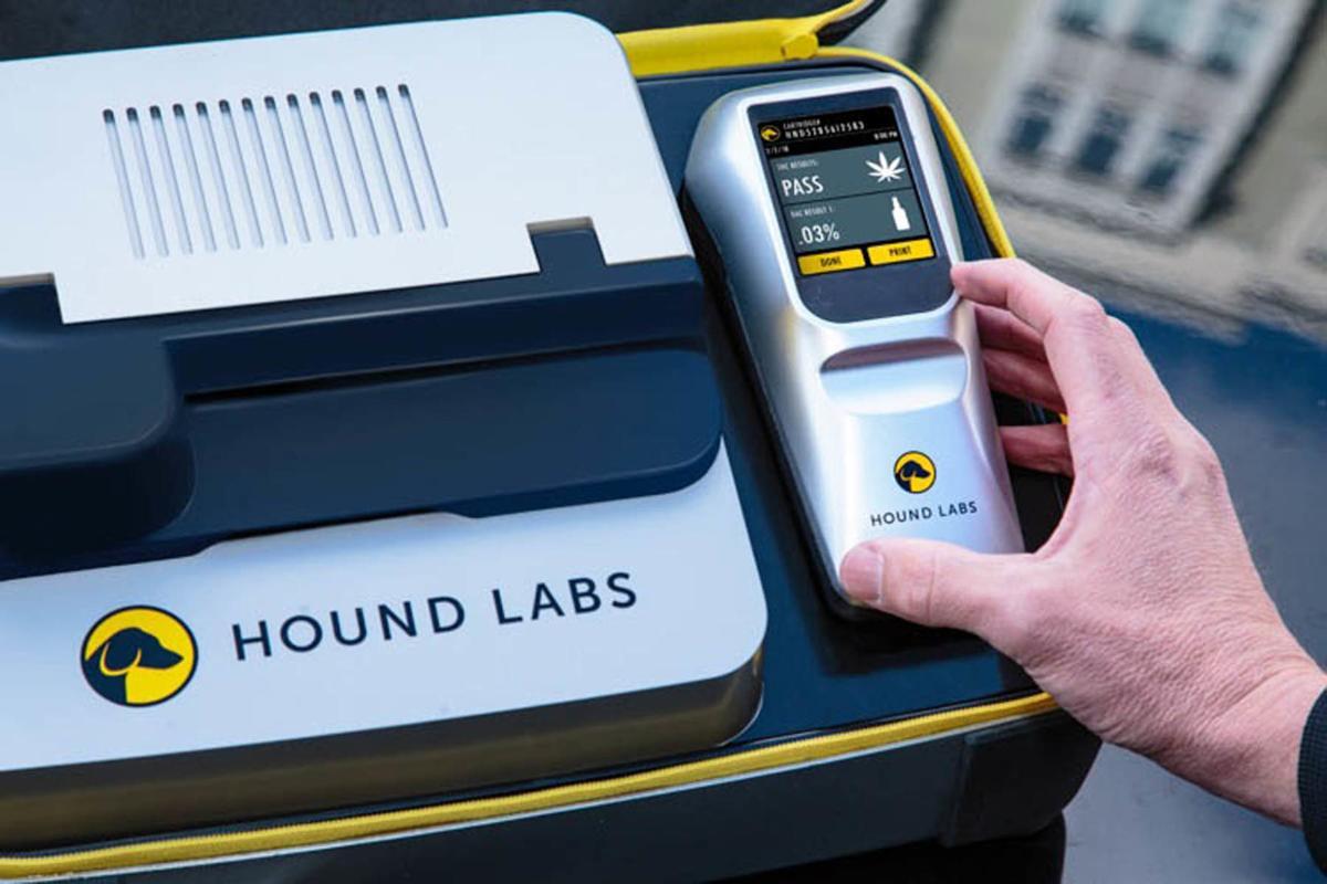 Hound Labs THC breath test device