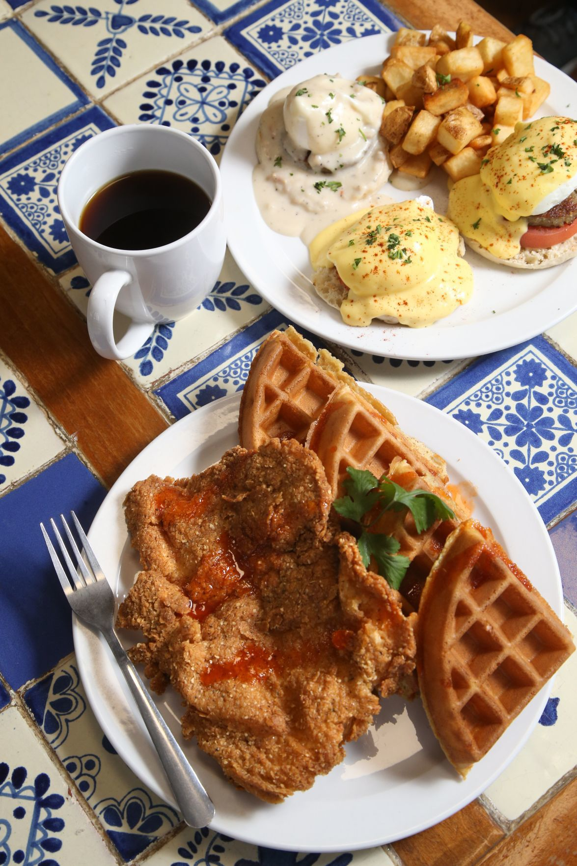 The Deuce chicken and waffles 1
