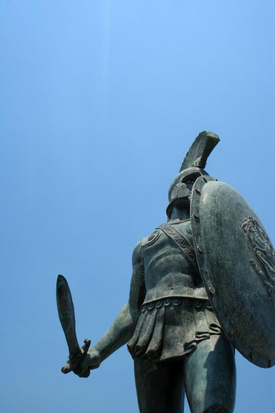 Statue of Leonidas in Sparta, Greece
