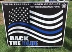 Back the Blue sign