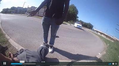 TPD teen jaywalking screengrab