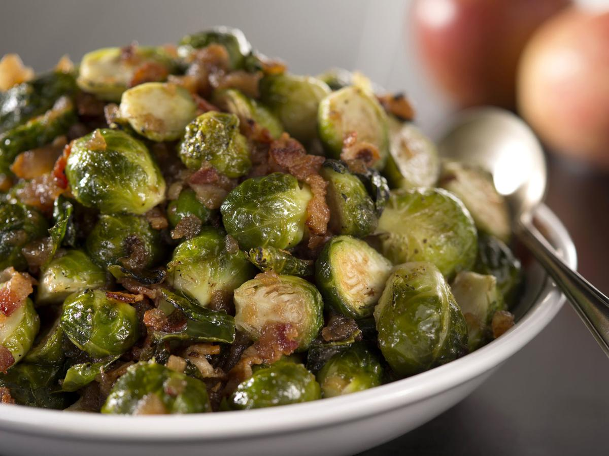 Apple Roasted Brussel Sprouts
