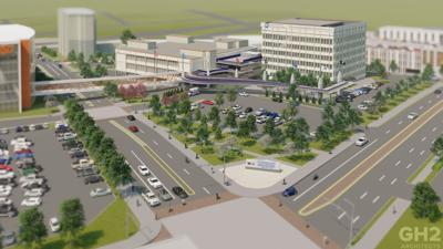 VA hospital rendering