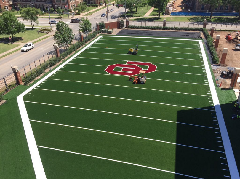 Ou Football New Outdoor Turf Practice Field Installed At