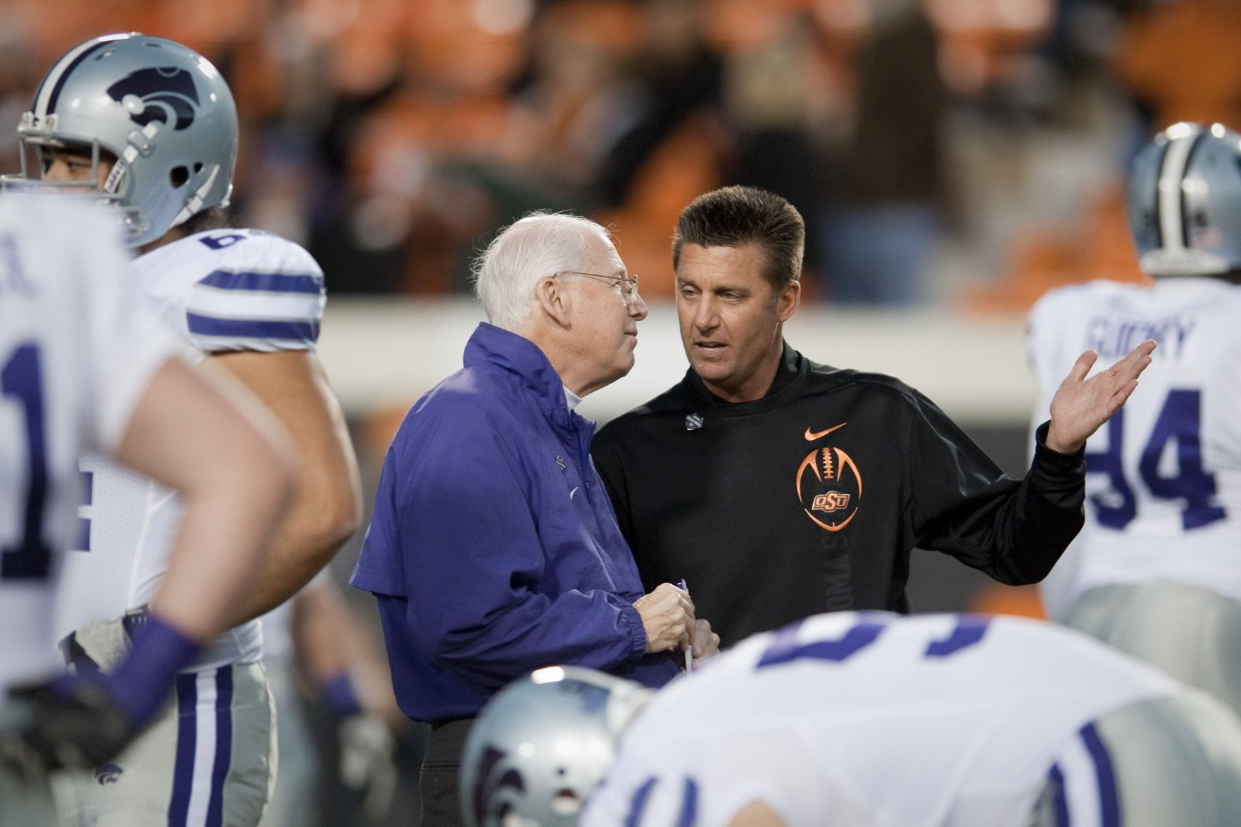 Bill Snyder said his recovery from throat cancer is going well