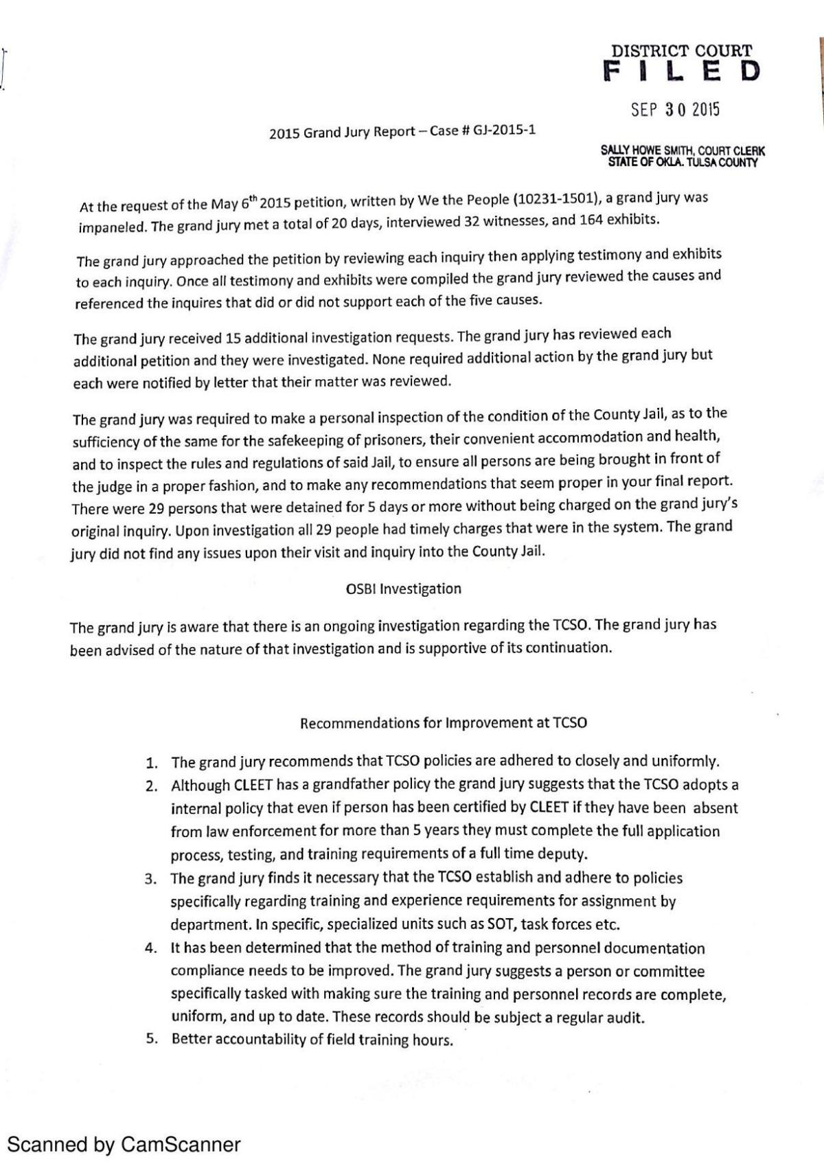 PDF: Grand jury recommendations for TCSO