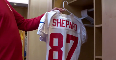 official photos eb178 4a023 Giants' Sterling Shepard will wear his father's NFL jersey ...
