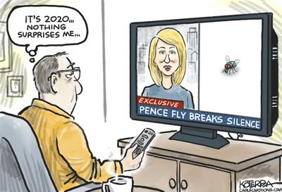 Syndicated Cartoon: 2020 and The Pence Fly by Jeff Koterba