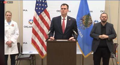 Governor Stitt facebook press conference