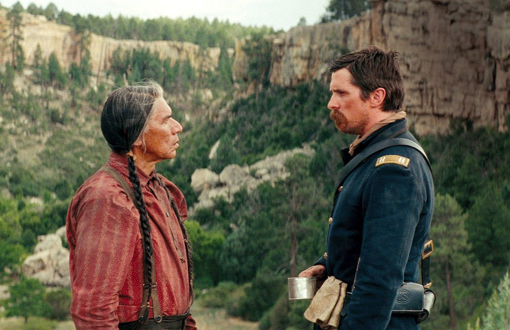 Wes Studi and Christian Bale (copy)