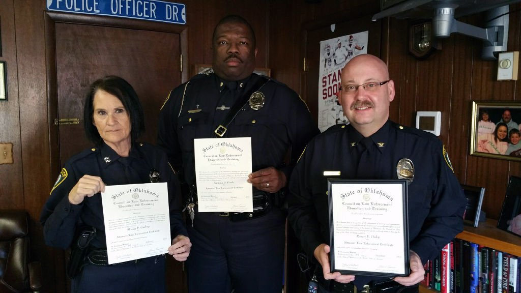 WPD Chief, Deputy Chief and Captain all receive advanced training ...