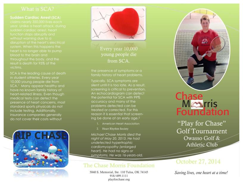 Chase Morris Foundation Golf Tournament Brochure   TulsaworldCom