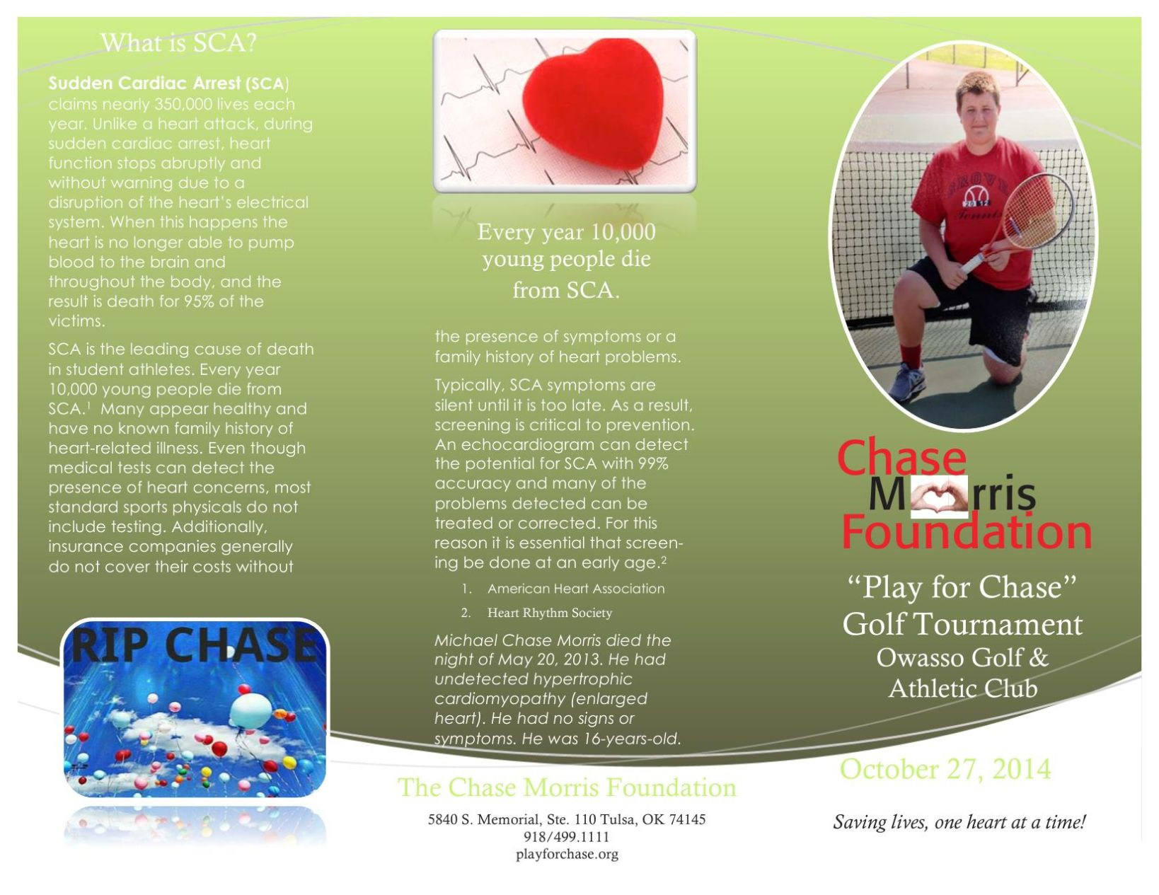Download PDF Chase Morris Foundation Golf Tournament Brochure