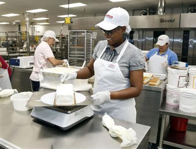 Costco Employees Work In The Bakery Department Tulsas Wholesale Healthier Big Box Giants Such As Wal Mart And Are So Hungry For Good Help