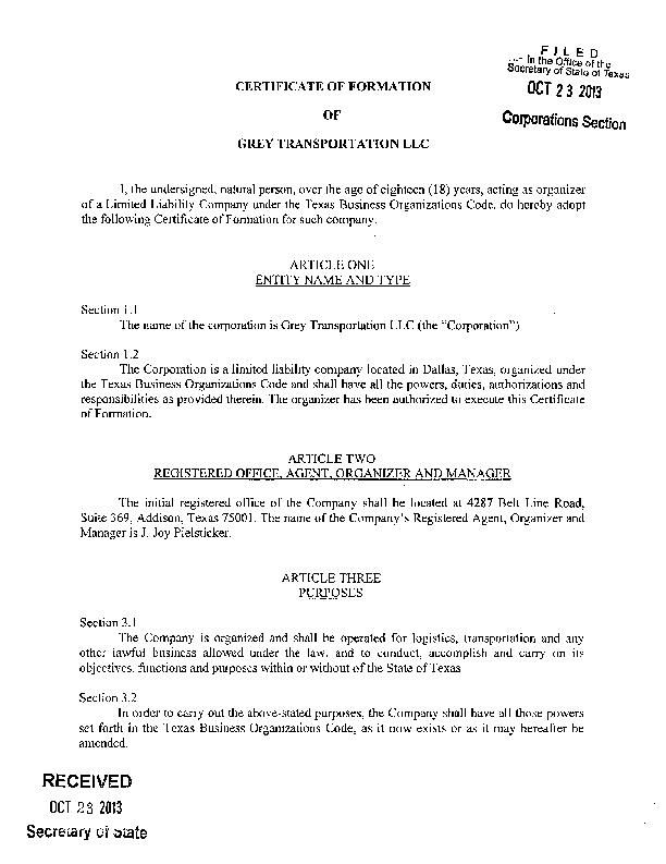 Read the articles of incorporation for grey transportation llc download pdf read the articles of incorporation for grey transportation llc altavistaventures