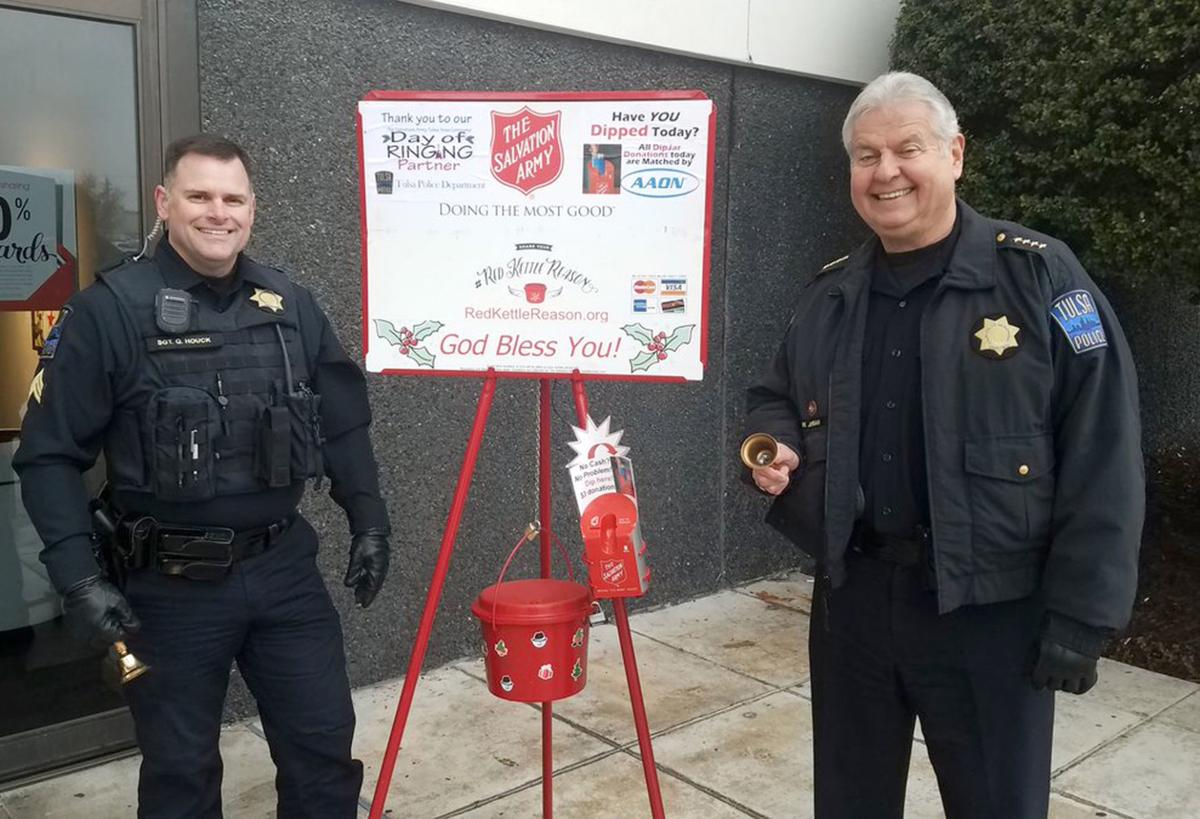 Image result for Group informs Tulsa police it cannot endorse Salvation Army; kettle-ringing by officers in uniform
