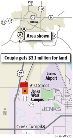 Jenks High School Campus Map.Jury Awards Couple 3 1 Million In Jenks Land Dispute Education