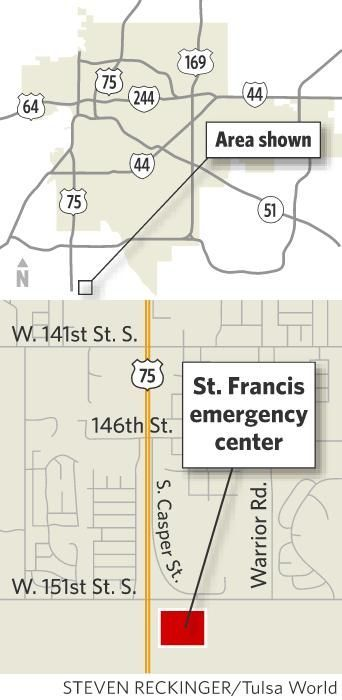 St. Francis emergency center map