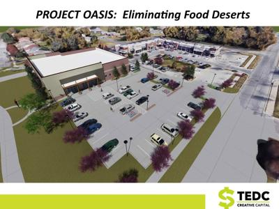 Proposed grocery story on North Peoria Ave.
