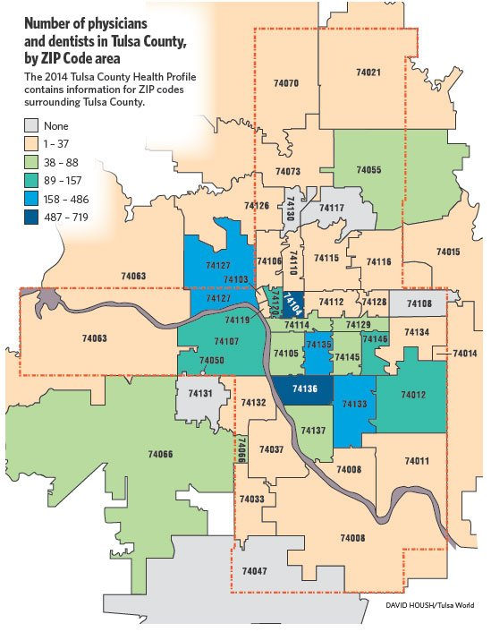 Tulsa Zip Codes Map | Zip Code MAP
