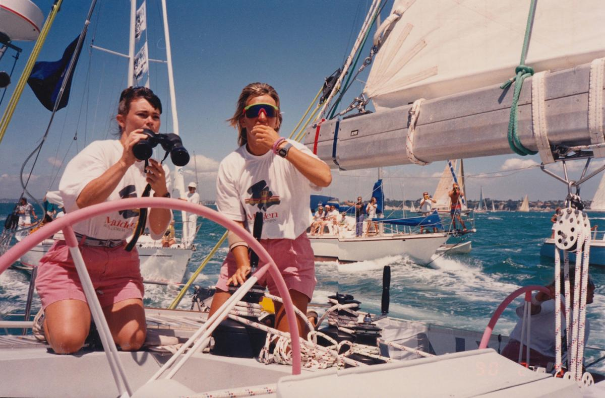 Her mom broke barriers with an all-female crew; she's about to set sail on the same yacht