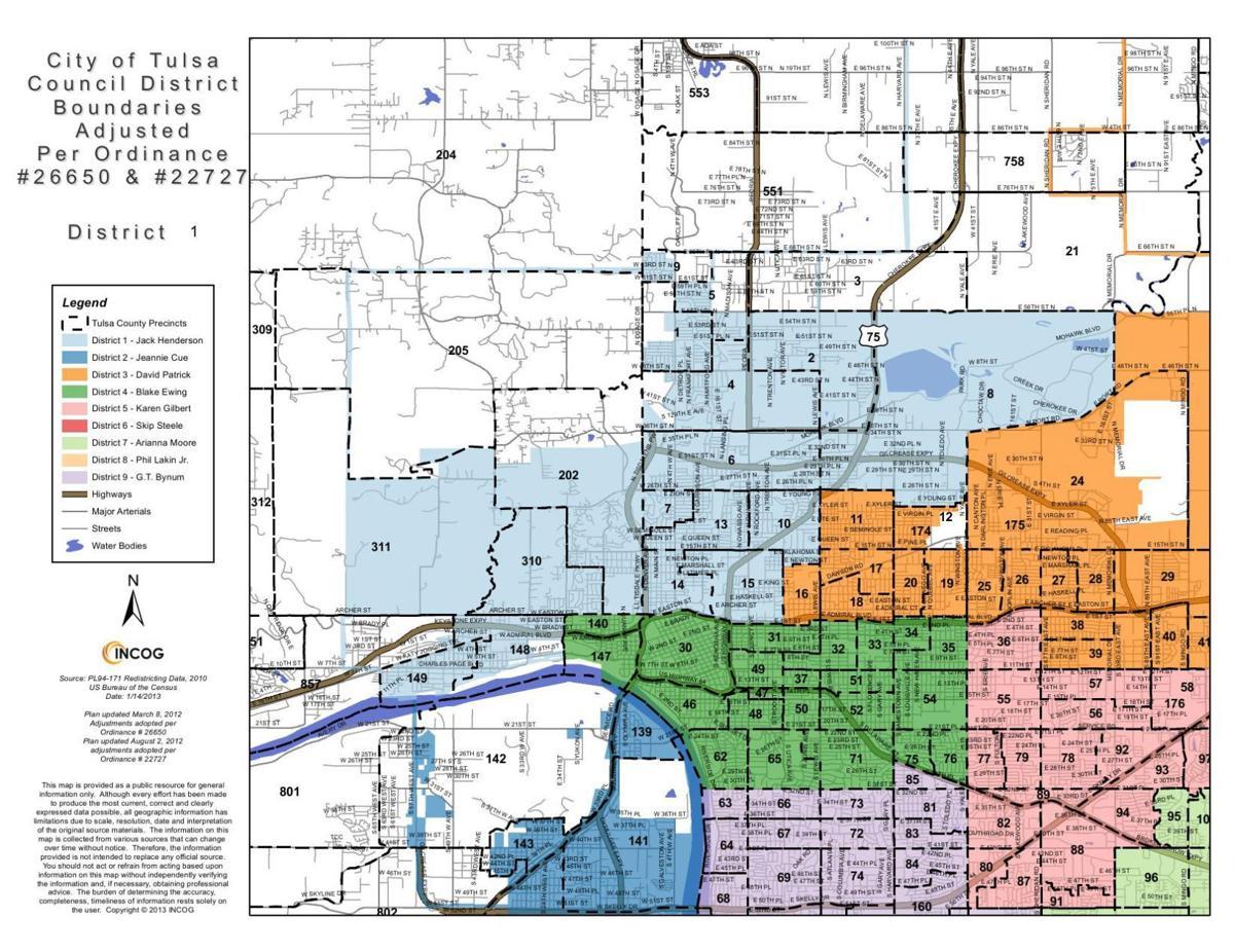 tulsa city council district maps