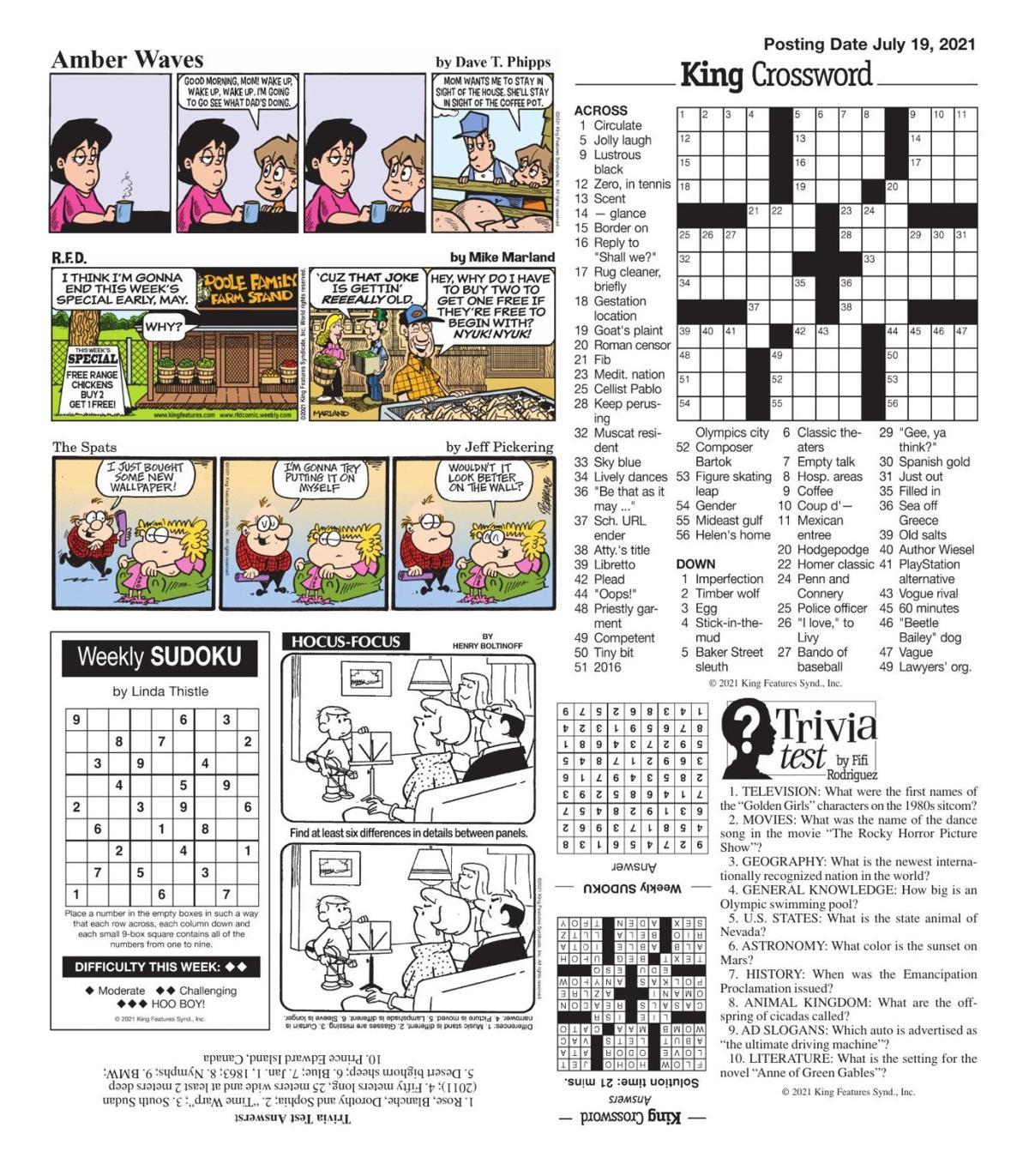 Puzzles, Comics