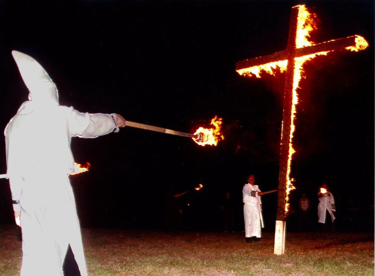 Throwback tulsa gallery when the ku klux klan came to town kkk burning cross in 1996 biocorpaavc Images