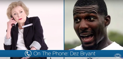 Watch Betty White Pretend To Call Dez Bryant In Fox Sports