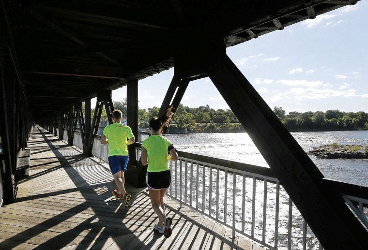 Pedestrian Bridge runners