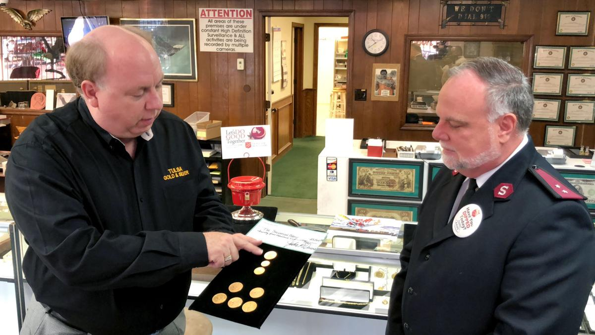 Eight gold coins valued over $7,000 left in Salvation Army
