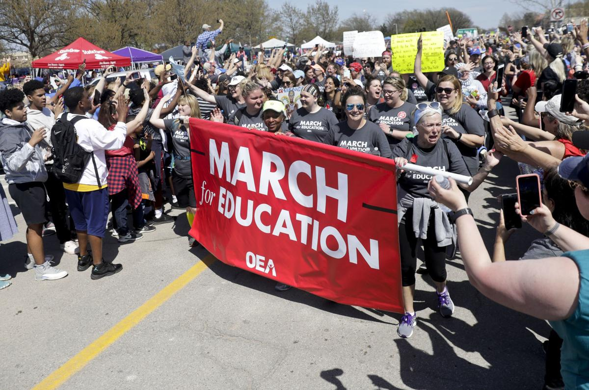 2018: Teachers walk out, demand higher pay from lawmakers
