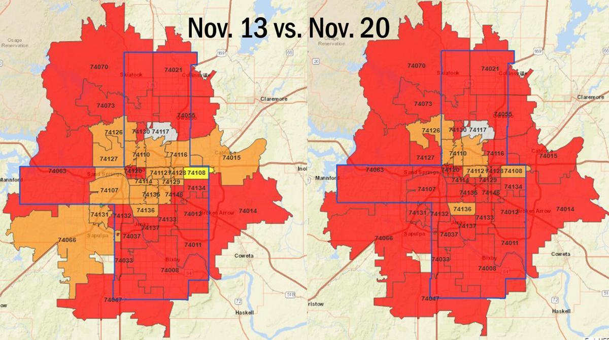Tulsa Health Dept alert map