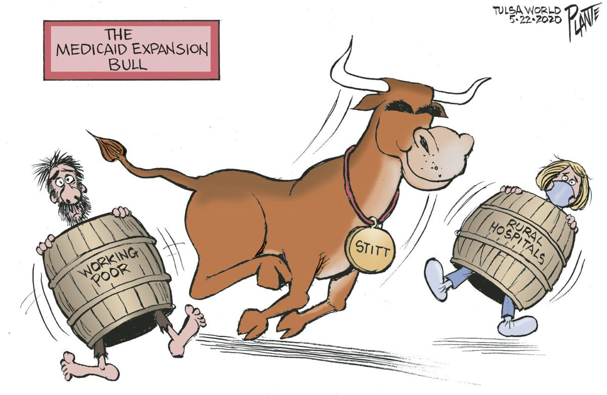 Bruce Plante Cartoon: The Medicaid Bull