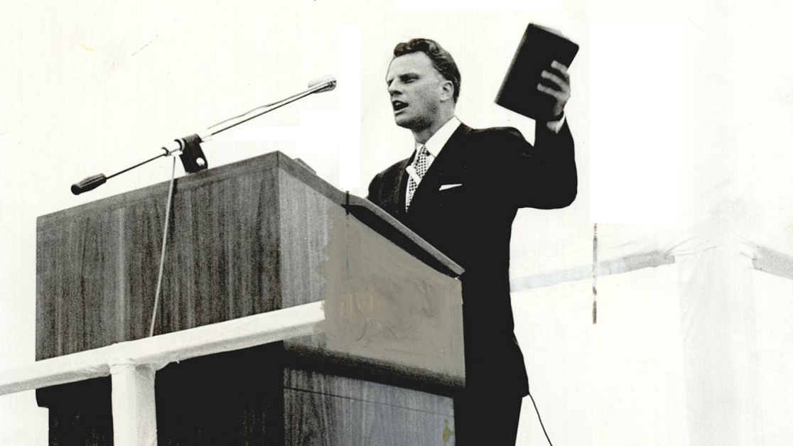 Throwback Tulsa: Billy Graham preaches to a filled Skelly Stadium 65 years ago today