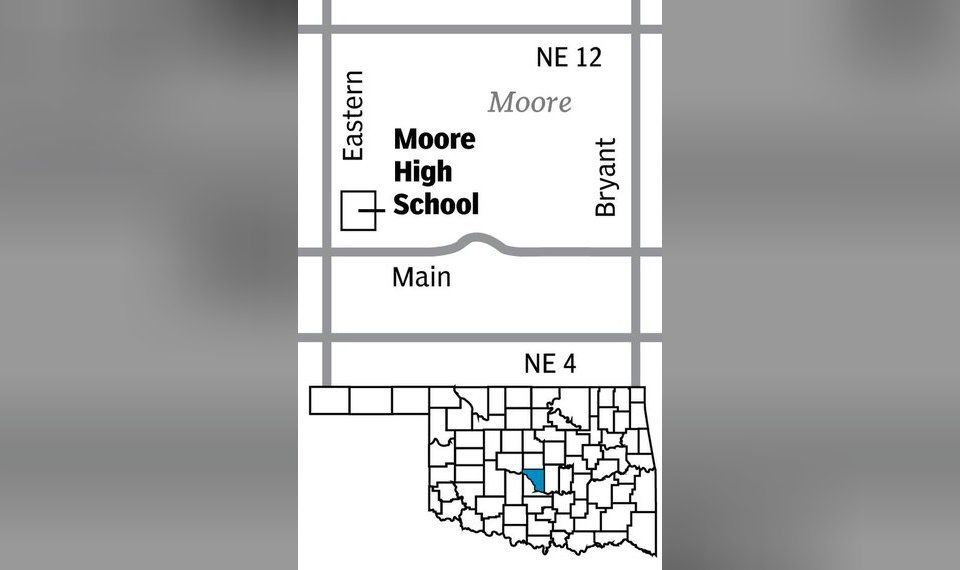 Moore High School map