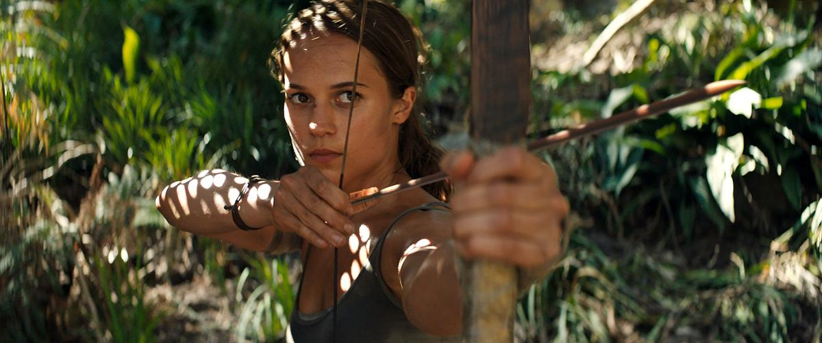 """51c52d209 Alicia Vikander s Lara Croft is a young English woman with special skills  in the """"Tomb Raider"""" remake. Courtesy Warner Bros. Pictures"""