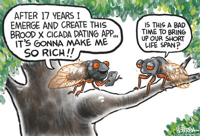 Cartoon: Brood X Cicada Invasion by Jeff Koterba