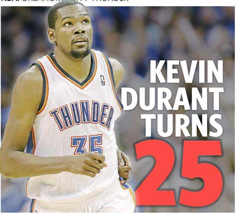 1973d27259b6 V KEVIN DURANT TURNS. Thunder star reflects on six years in the league