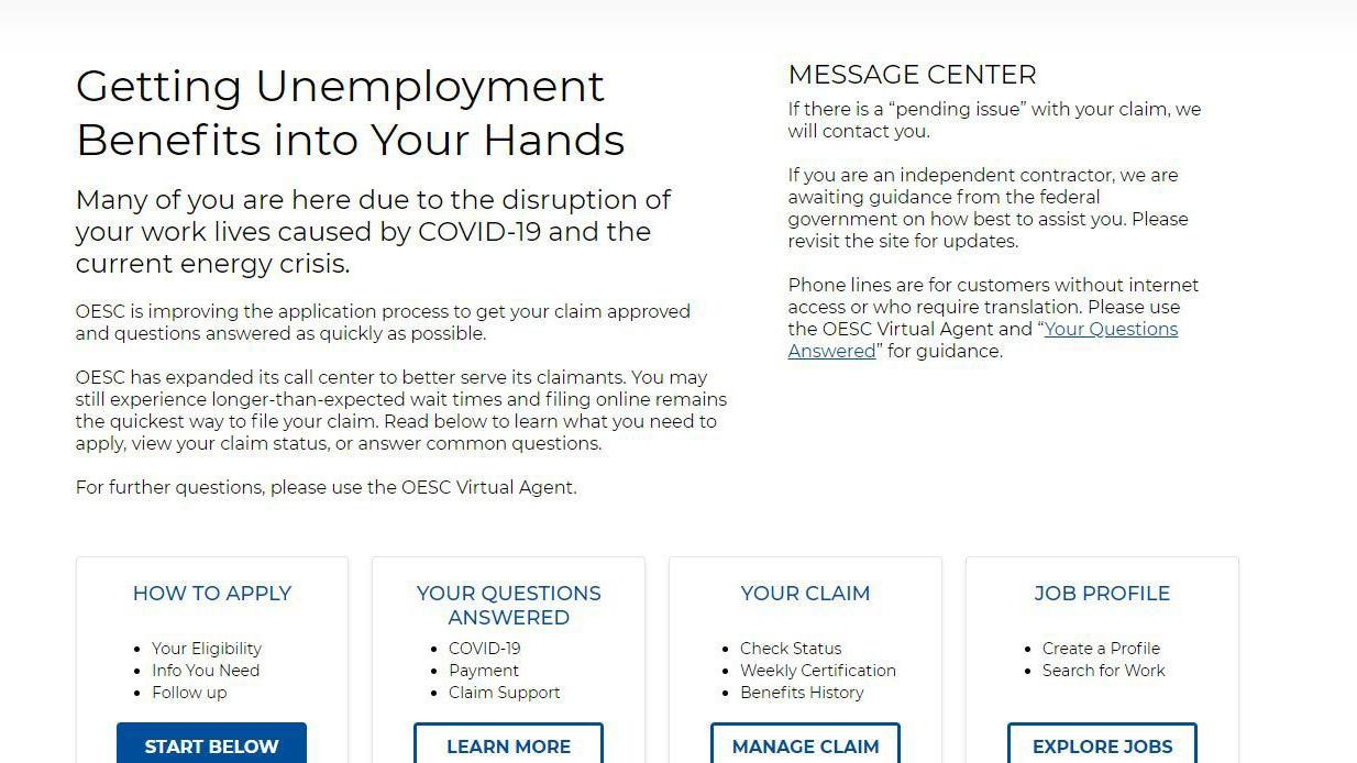 See The Redesigned Unemployment Website To File Claims Average Wait Times Down To 15 To 30 Minutes Business News Tulsaworld Com