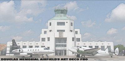 Rendering of Douglas Memorial Airfield FBO