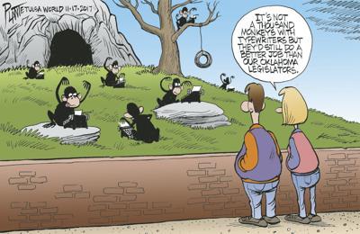 Bruce Plante Cartoon: One thousand monkeys