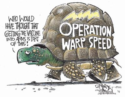 Syndicated Cartoon: Slow Vaccine Stuff by John Darkow
