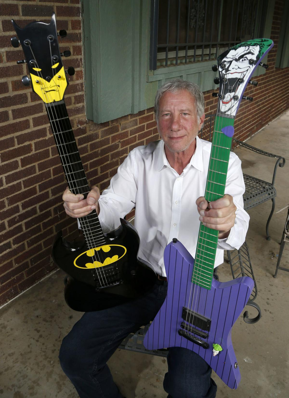 Batman and Joker guitars