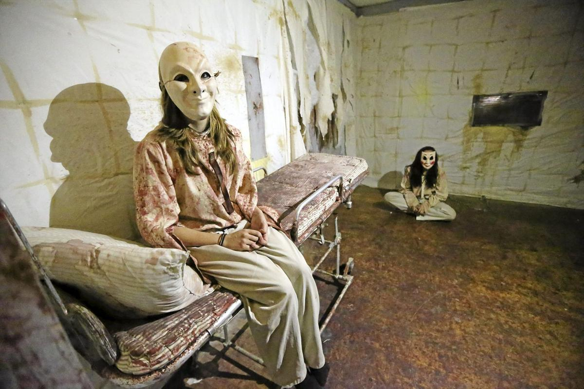 Image result for insane asylum haunted house