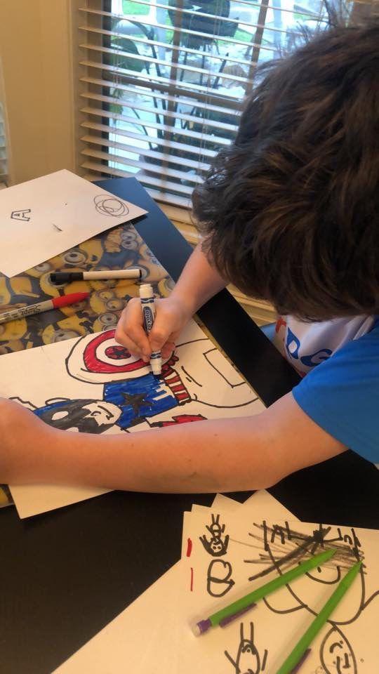 Draw superheroes