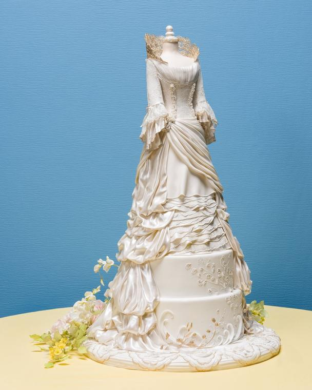 wedding ideas competitions wedding dress cake earns top honors at grand national 28089