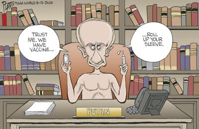 Bruce Plante Cartoon: Putin's vaccine